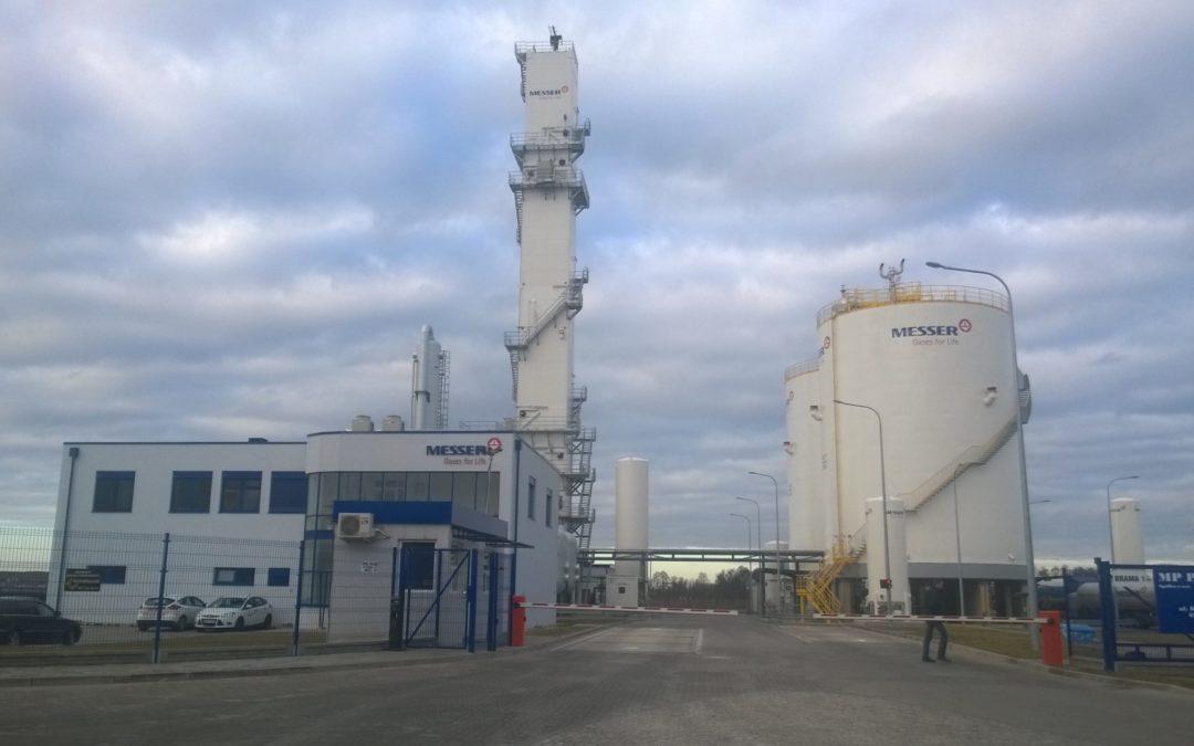 Zakład produkcji gazów przemysłowych firmy Messer Polska
