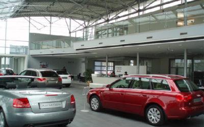 Kompleks salonów Audi, Porsche z sersisami i parkingiem podziemnym (125 aut)