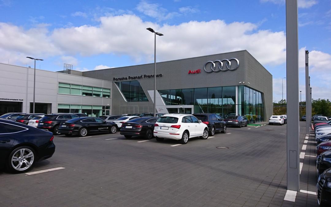 Budowa budynku salonu samochodowego marki AUDI wraz z pełnoobsługowym zapleczem serwisowym oraz zagospodarowaniem terenu i towarzyszacą infrastrukturą techniczną