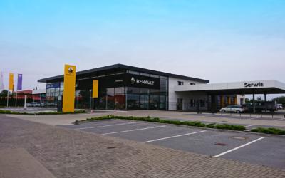 Rozbudowa salonu samochodowego Renault – Dacia wraz z serwisem